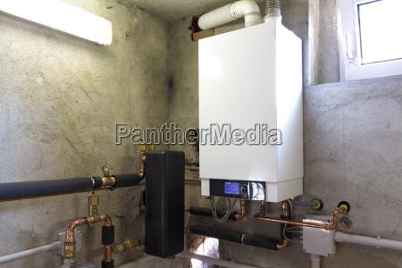 condensing gas boiler in the boiler