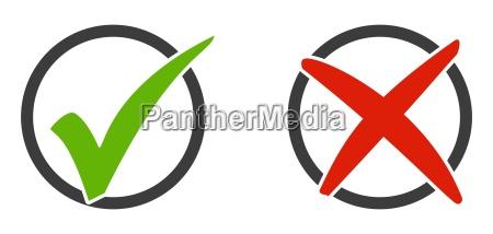 2 icone segno di spunta e