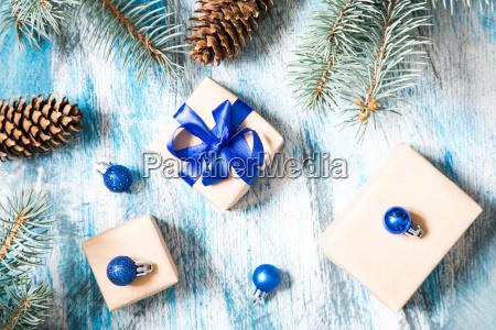 blu saluti vacanza composizione colore albero