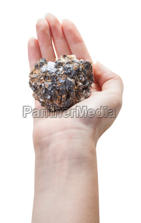 above view of mineral ore on