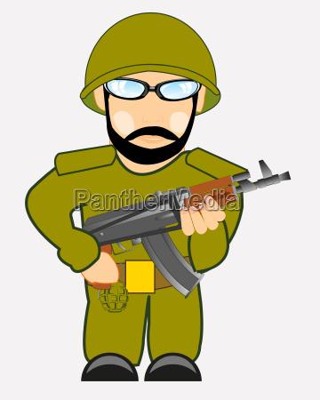 persona soldato occhiali militare arma uomo