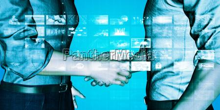 banca applicazione strategia mano mani stretta