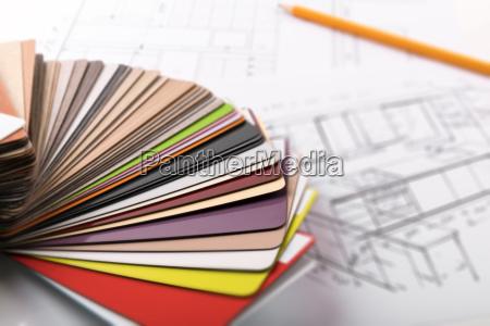 casa costruzione scrivania arredamento progettazione concetto