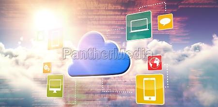 blu portatile computer applicazione ambiente luce