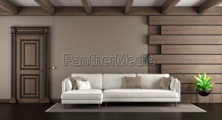 white sofa in a elegant living