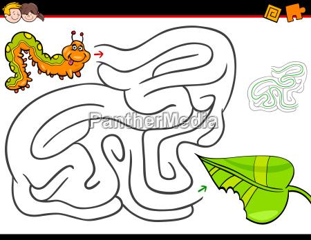 educazione illustrazione labirinto bruco fumetto cartone