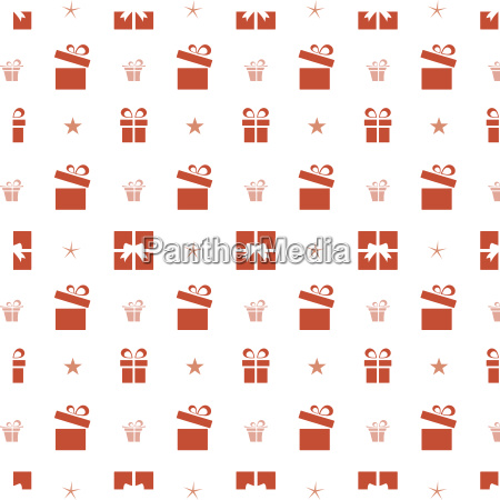 christmas seamless pattern with red gifts