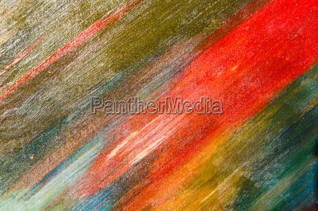 tratti ad acquerello su una tela