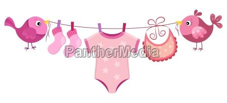 linea con abbigliamento per bambina