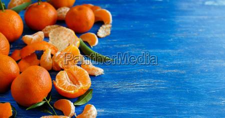 blu arancia cibo dolce verde foglie