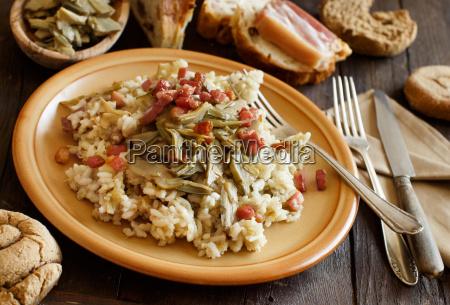 cibo pane legno cucina piatto forchetta