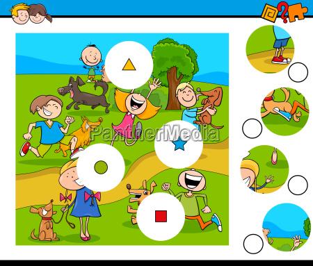 abbinare pezzi puzzle con i bambini
