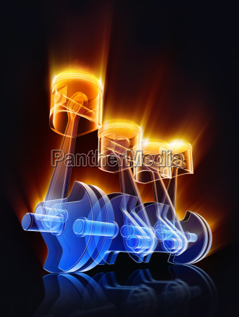 3d rendering of a car engine