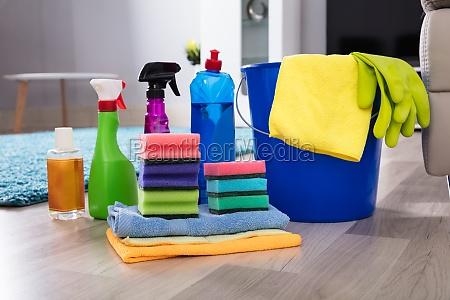domestico tappeto legno duro pulito chimico