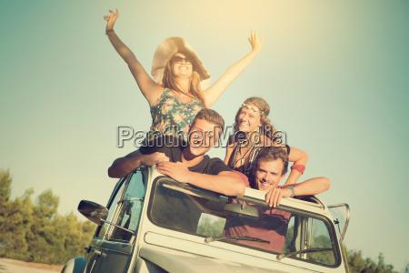 amicizia estate auto veicolo mezzo di