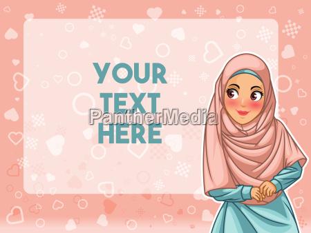 la donna musulmana che indossa il