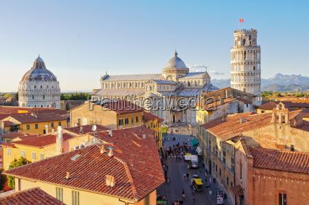cattedrale toscana tetti rinascimento pisa italia