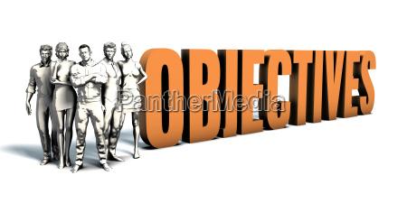obiettivi uomini daffari arte