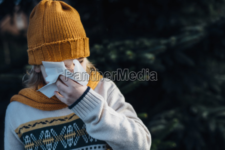 little, boy, having, a, cold, , blowing - 23684238