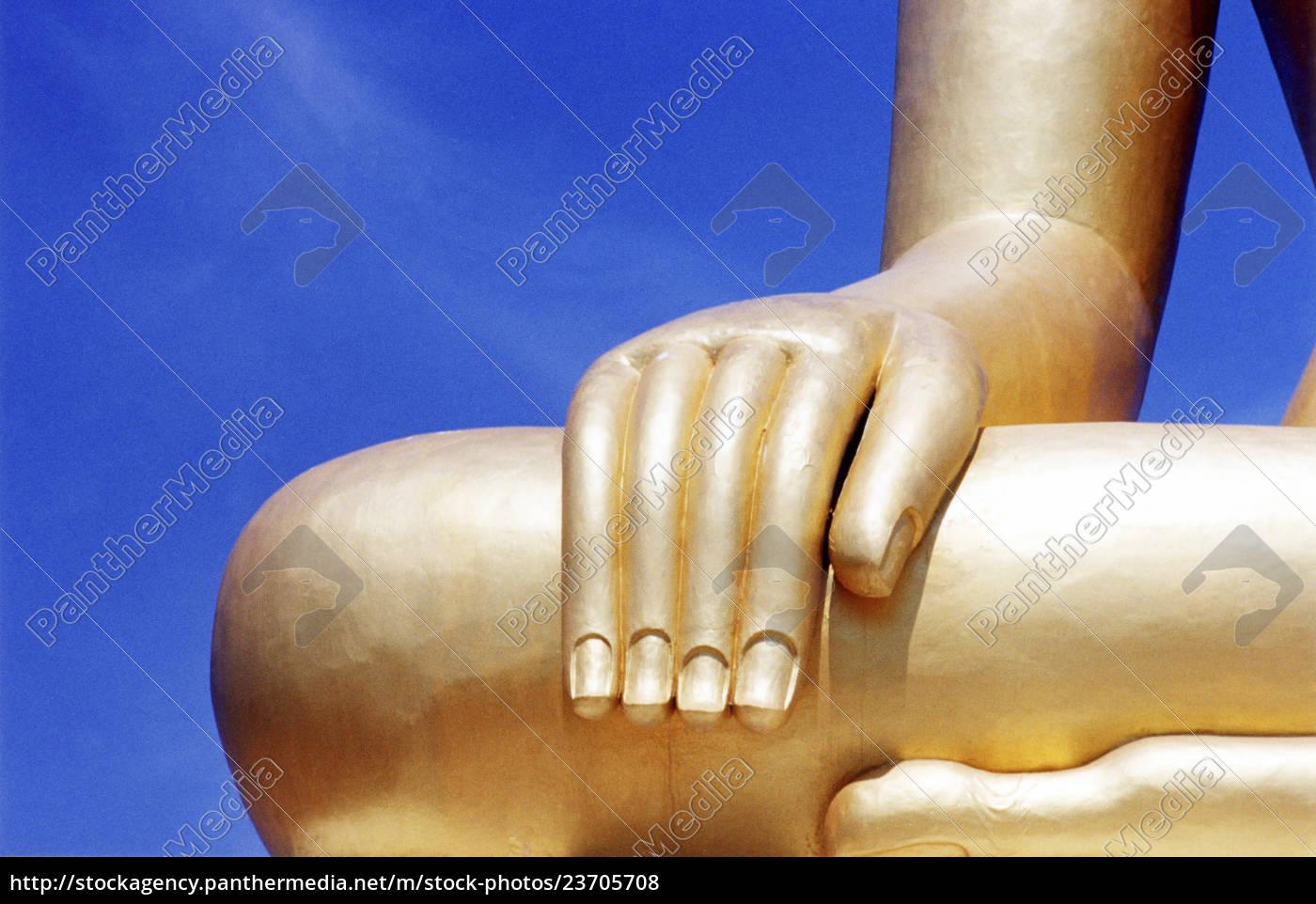 particolare, della, scultura, di, buddha - 23705708