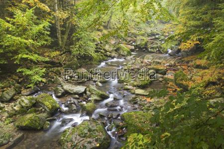 europe autumnal stream bavaria sightseeing horizontal