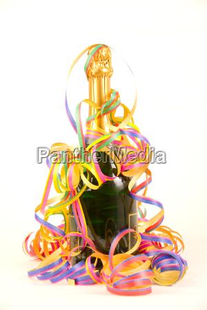 festeggiare festeggia bottiglia carnevale spumante bicchiere
