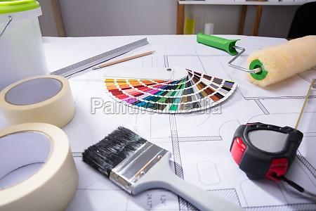 campione guida colore sul blueprint