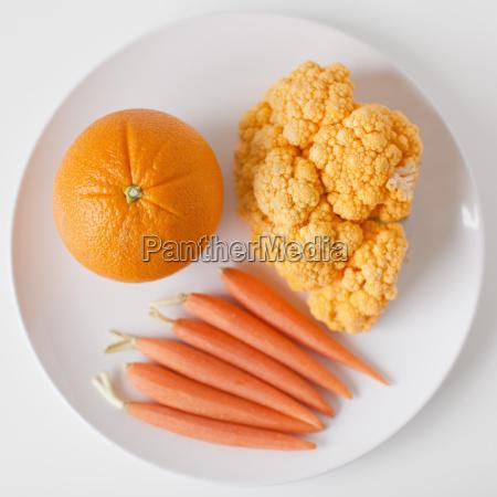 arancia cibo freschezza frutta piatto verdura