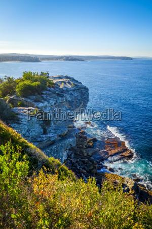 riva del mare spiaggia australia scogliera