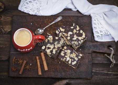 bicchiere cibo primo piano caffe rosso