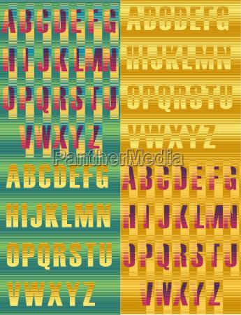 scrivere modello prototipo tipo tipografia retro