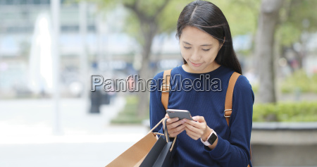 asian woman use of smart phone