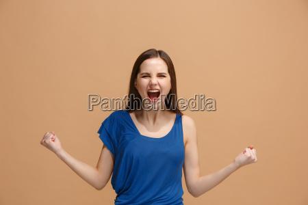 vincere la donna di successo felice