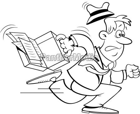 illustrazione in bianco e nero di