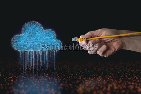 elettronica attrezzatura nuvola linee potenza elettricita
