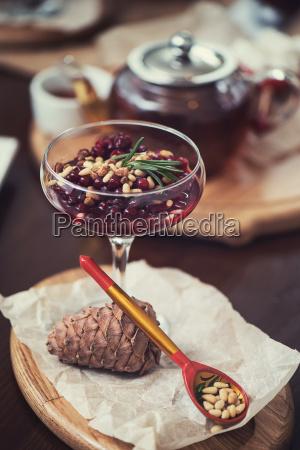 dessert da beriies con semi di