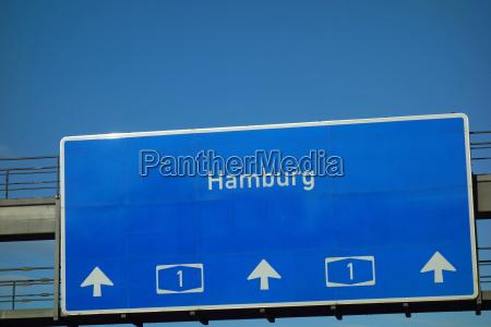 segnale autostradale a1 hamburg