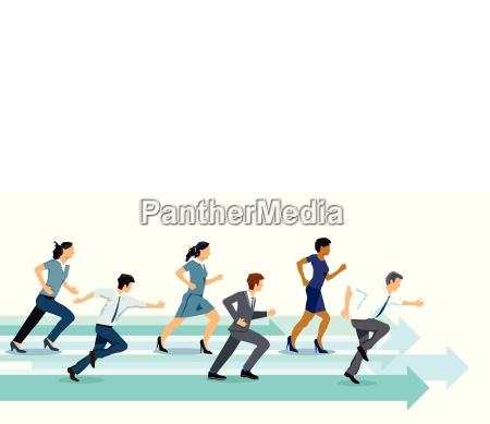i concorrenti concorrenza illustrazione della concorrenza