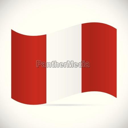 peru flag illustration