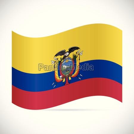 ecuador flag illustration