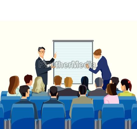 conferenza e consultazione di fronte a