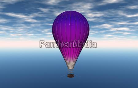 heiluft pallone con cesto di trasporto