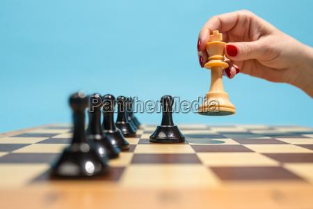 la scacchiera e il concetto di