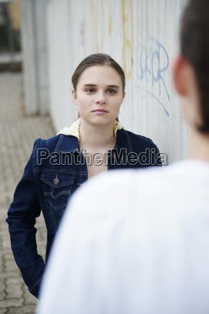 quarrel between a young couple