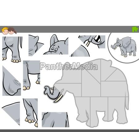 educazione gioco giocato giocare elefante illustrazione