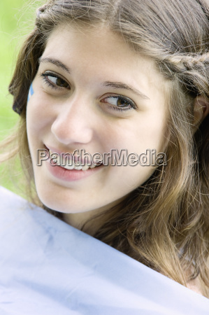 portrait of a young argentinean woman