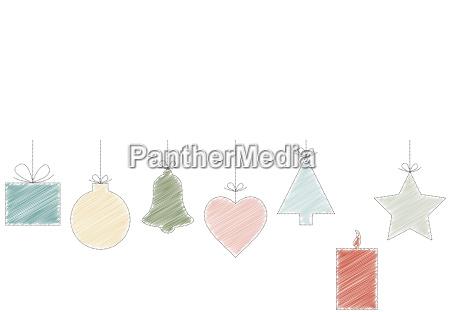 disegno verde colorato candela avvento abete