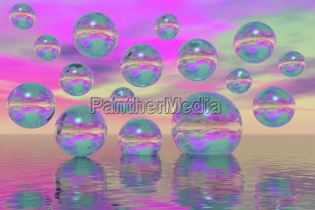 acque grafico colorato fantasia illustrazione galleggiare