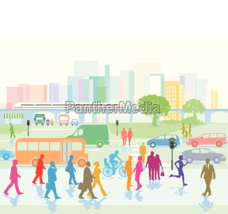 persone popolare uomo umano andare citta