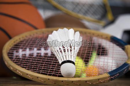 palle sportive con attrezzature